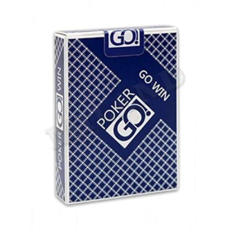 """Игральные карты серия """"PokerGo"""" blue  54 шт/колода (poker size index jumbo, 63*88 мм)"""