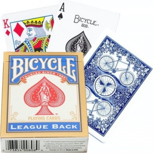 Карты Bicycle LEAGUE BACK синие