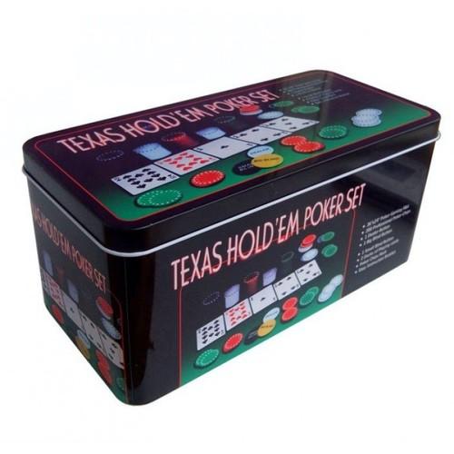 Набор для покера Holdem Light на 200 фишек с номиналом