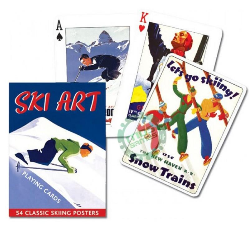 Коллекционные карты Катание на лыжах