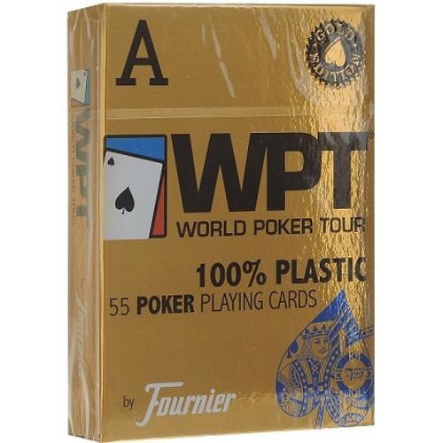 Игральные карты Fournier WPT – золотое издание (синие)