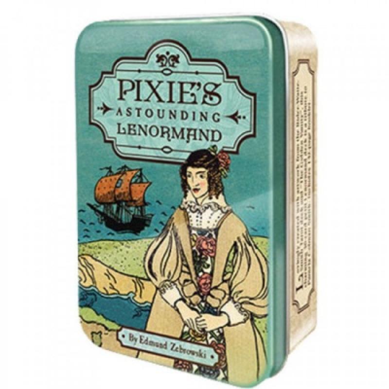 Карты Таро Tarot cards Pixie Astounding Lenormand in a tin/Оракул Ленорман Пикси - USG