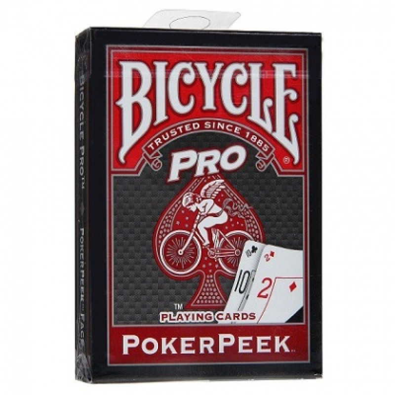 Карты Bicycle Pro Poker Peek (красные)