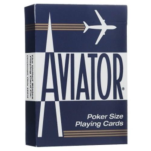 Карты Aviator - покерный размер, стандартный индекс (синие)