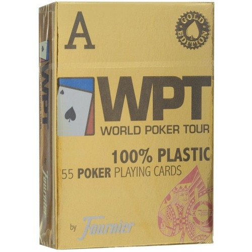 Игральные карты Fournier WPT – золотое издание (красные)