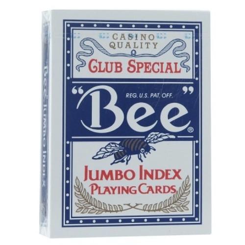 Карты Bee №77 синие - jumbo (крупный индекс)