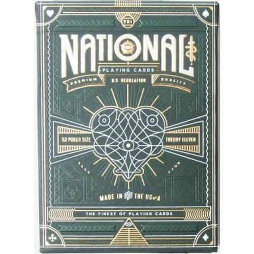 Игральные карты Green National - theory11