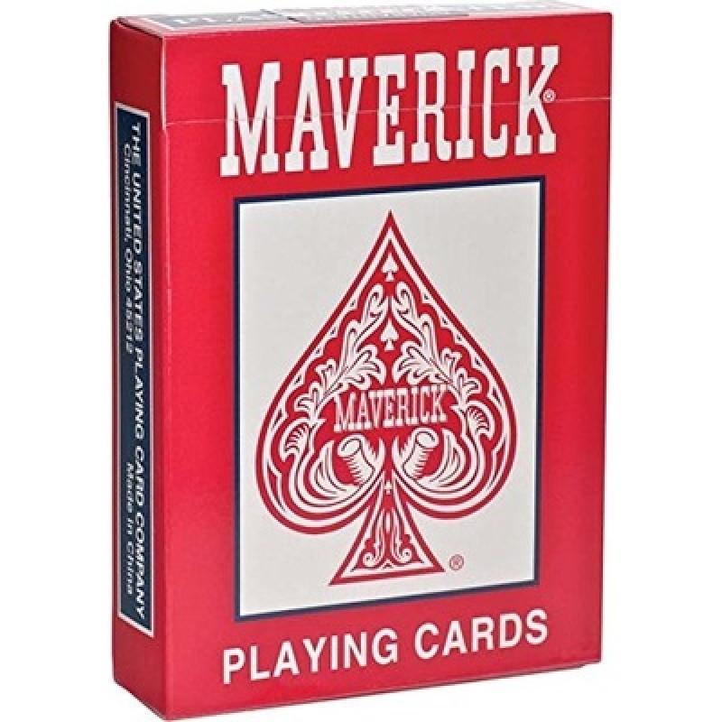 Игральные карты MAVERICK – стандартный индекс красные
