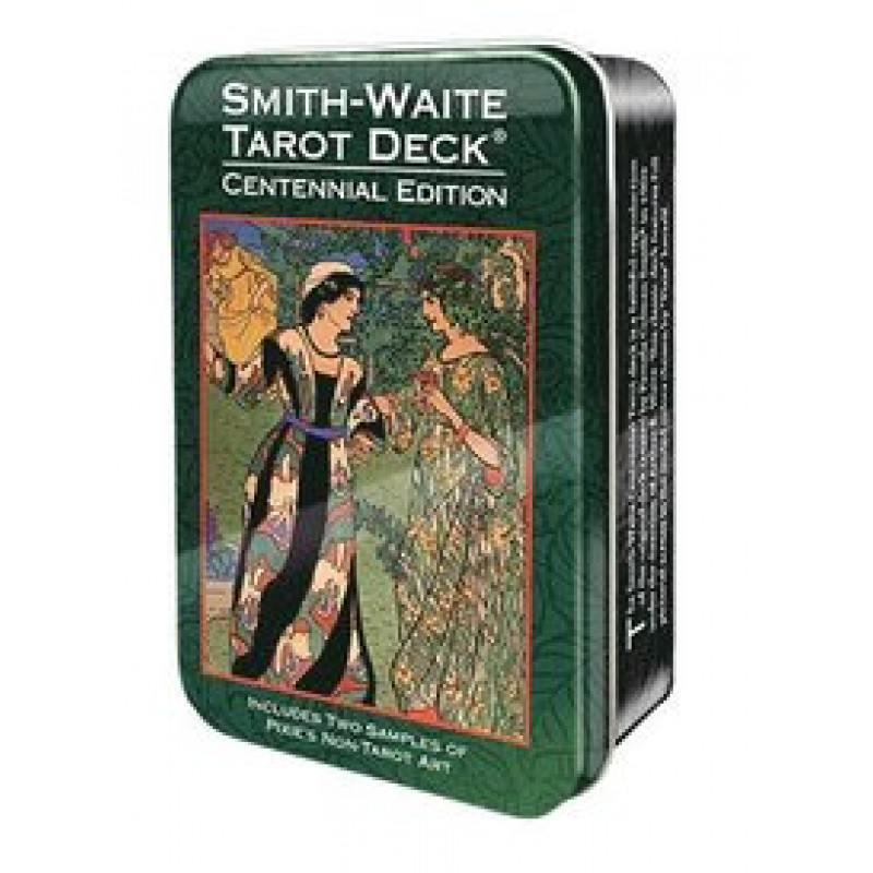 Карты Таро Smit Waite centennial desk Tarot in a Tin/Таро Уэйта-Смитт Памеллы таро в жестяной коробке, USG