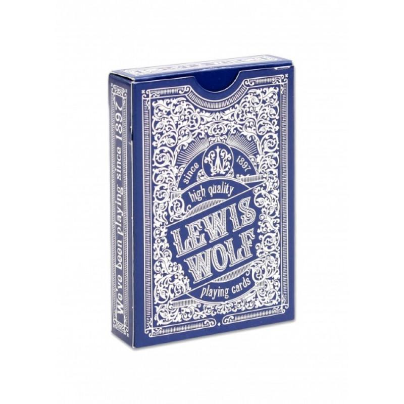 """Игральные карты серия """"Lewis & Wolf"""" blue 54 шт/колода (poker size index standard, 63*88 мм) ИН-3828"""