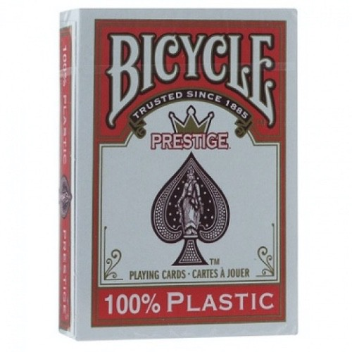 Карты Bicycle Prestige 100% пластик (красные)
