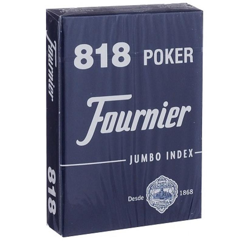 Карты Fournier 818 синие (крупный индекс)