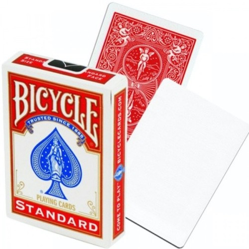 Карты Bicycle Blank Face (пустое лицо) красные