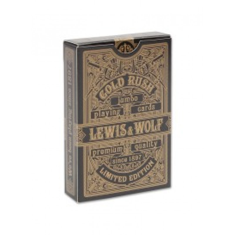 """Игральные карты серия """"Lewis & Wolf"""" Gold Rush 54шт/колода(poker size index jumbo, 63*88 мм) ИН-3829"""