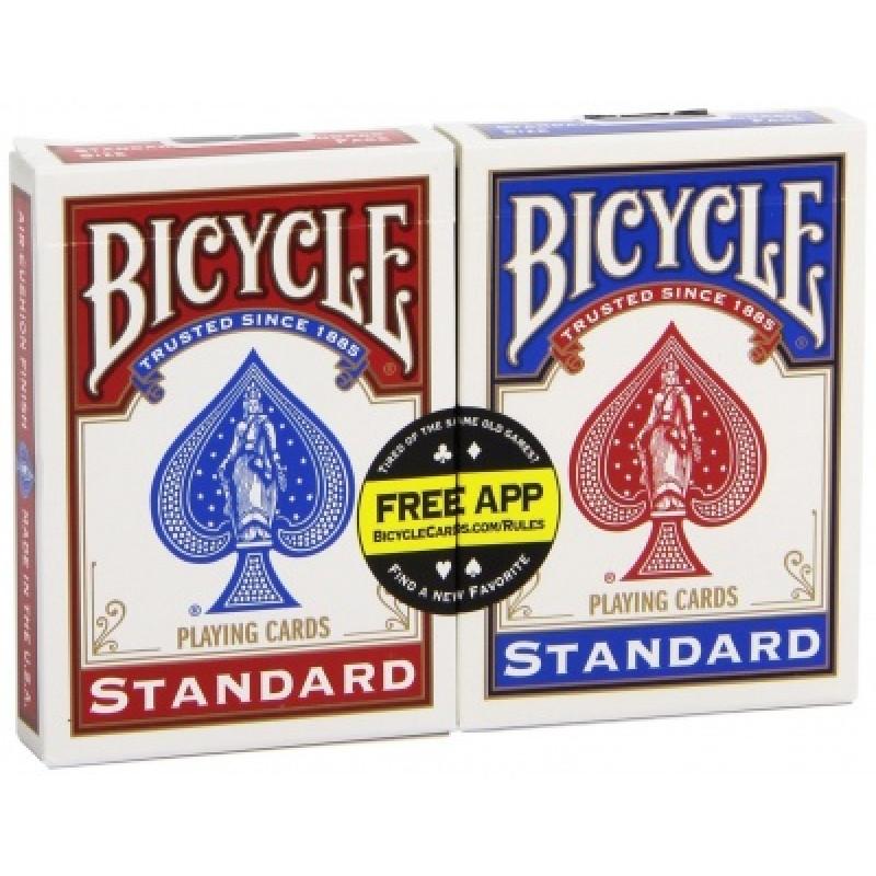 Карты Bicycle Standard упаковка из двух колод (белая окантовка)