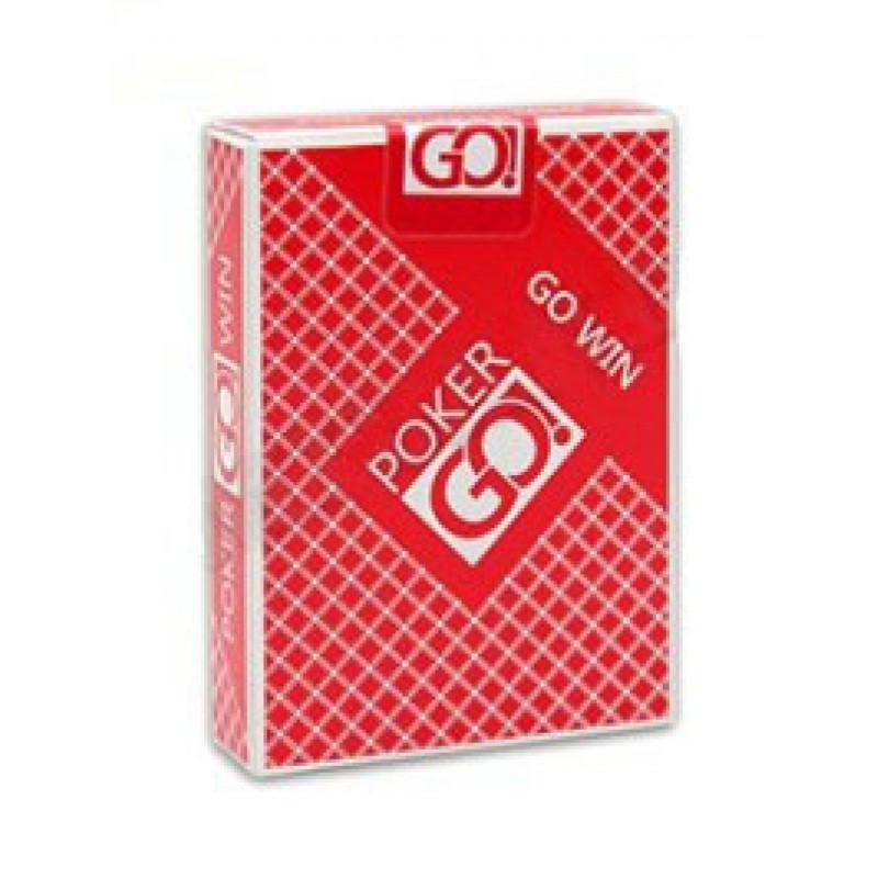 """Игральные карты серия """"PokerGo"""" red 54 шт/колода (poker size index jumbo, 63*88 мм)"""
