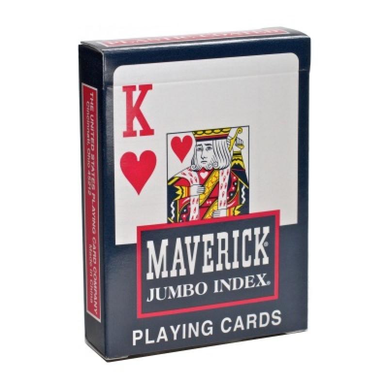 Игральные карты MAVERICK – JUMBO INDEX синие