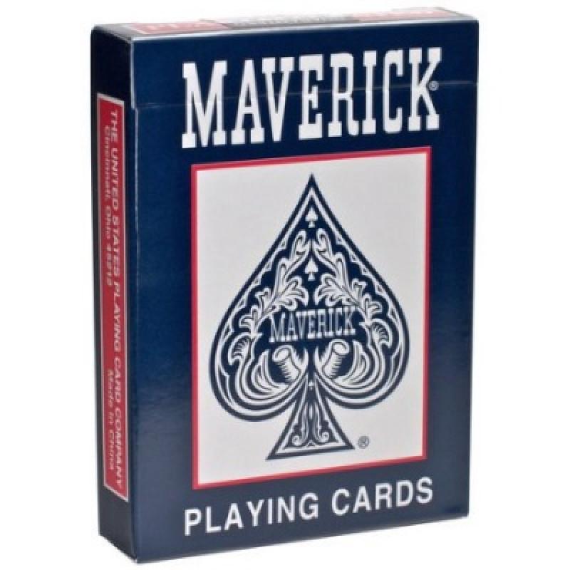 Игральные карты MAVERICK – стандартный индекс синие