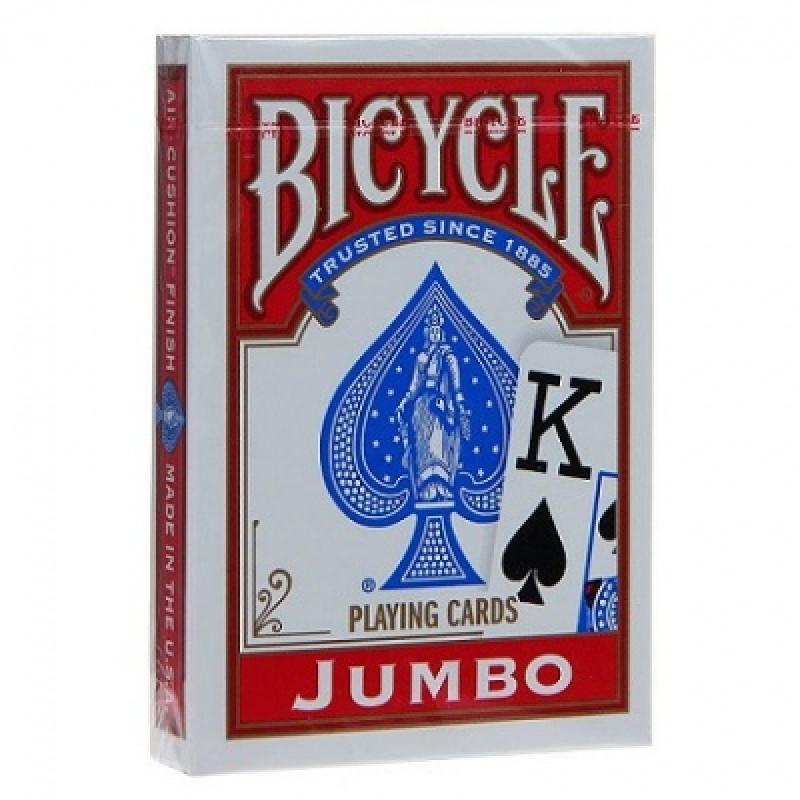 Карты Bicycle Rider Back (крупный индекс, красные)
