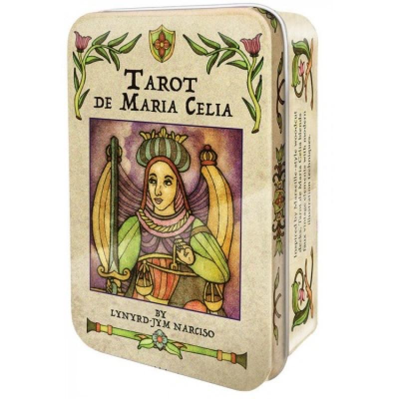 Карты Таро Tarot cards De Maria Celia в жестяной коробке - US Games