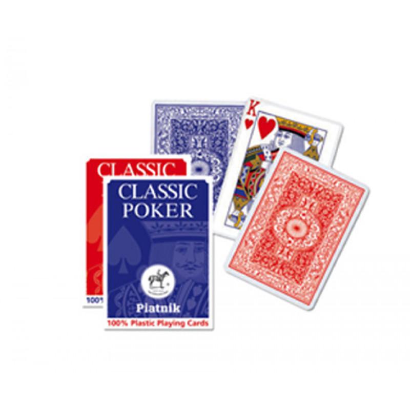 Игральные карты 100% Пластик-покер, 55 л.