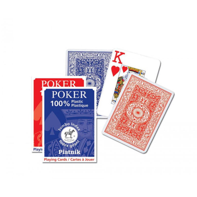 Игральные карты 100% Пластик-покер, Джамбо инд. 55 л.